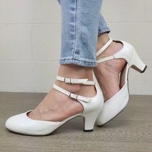 White Rockabilly Vintage Style Shoes- J
